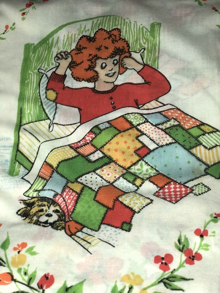 Little Orphan Annie and Sandy Vintage Springmaid Marvelaire Double Bed Sheet Set  | eBay