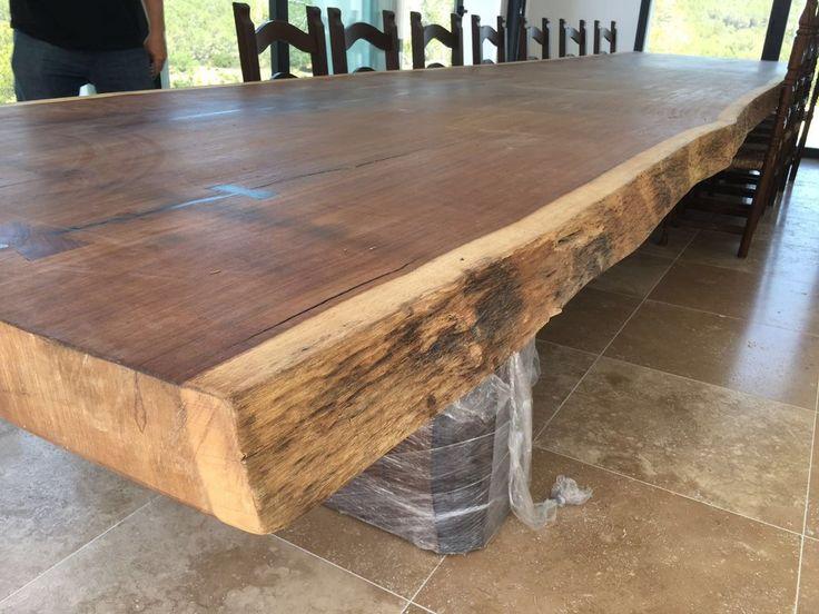 Las 25 mejores ideas sobre mesas de madera recuperadas en for Mesas de comedor grandes de madera