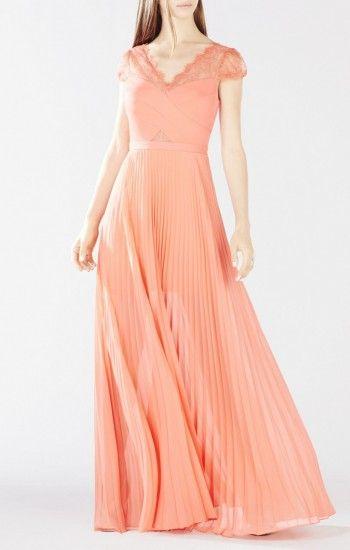 Bcbg brynna lace cape dress long