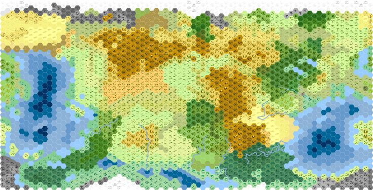Hex map of Cambria