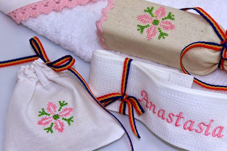 Trusou Botez Personalizat, Trusouri Botez, Hainute Botez, Lumanari Botez : Trusou botez pentru fetite