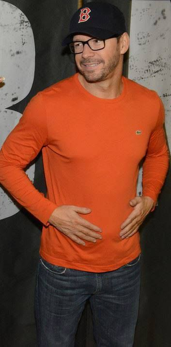 "NKOTB ~ Donnie Wahlberg  ""Orange you glad to meet me?"" Yes I am Mr Wahlberg yes I am."