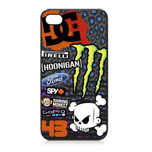 Ken BLOCK Hoonigan Gymkhana Drift DC Monster iPhone 5/5s case cover