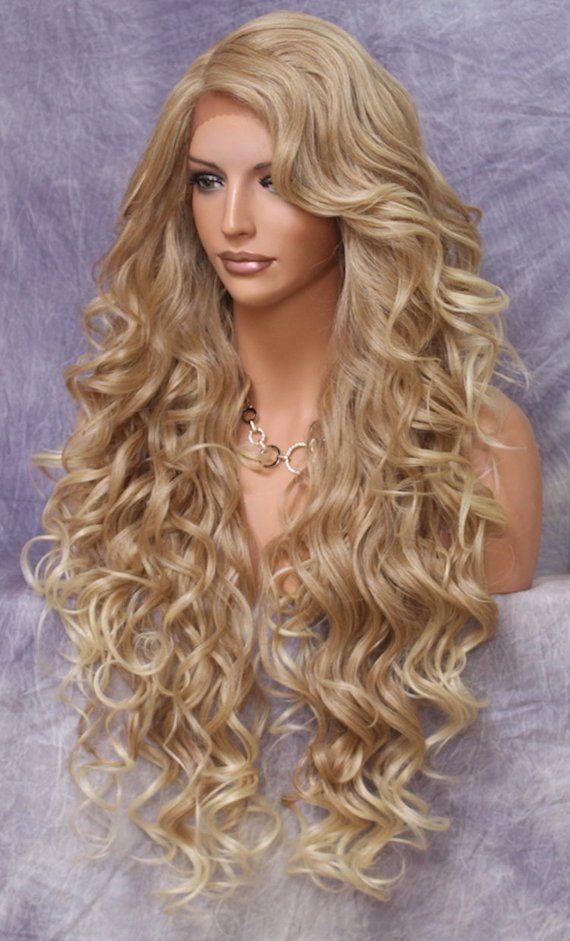 Blond lange haare pony