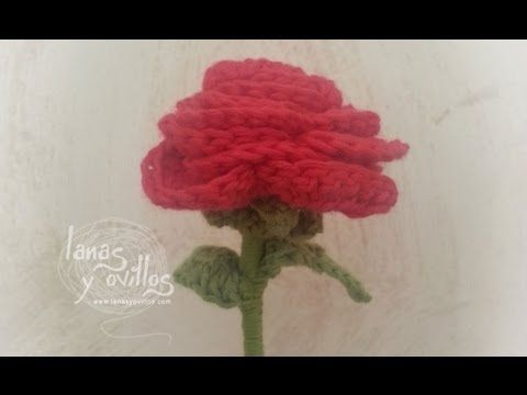 Tutorial Rosa Crochet Flor - YouTube