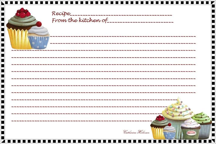 template for a recipe card – Recipe Card Template for Word