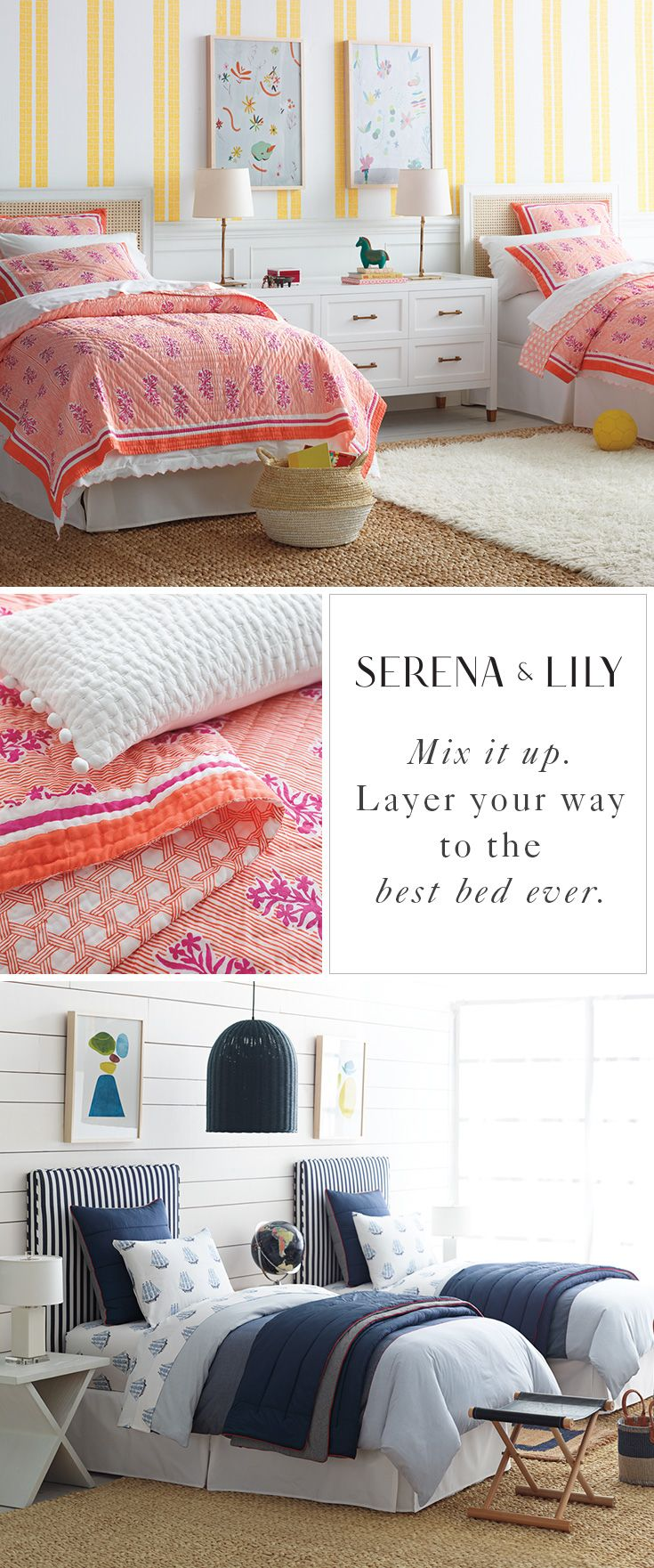 Color and pattern that you love as much as they do! Find the perfect bedding for you and your little ones today at Serena & Lily.