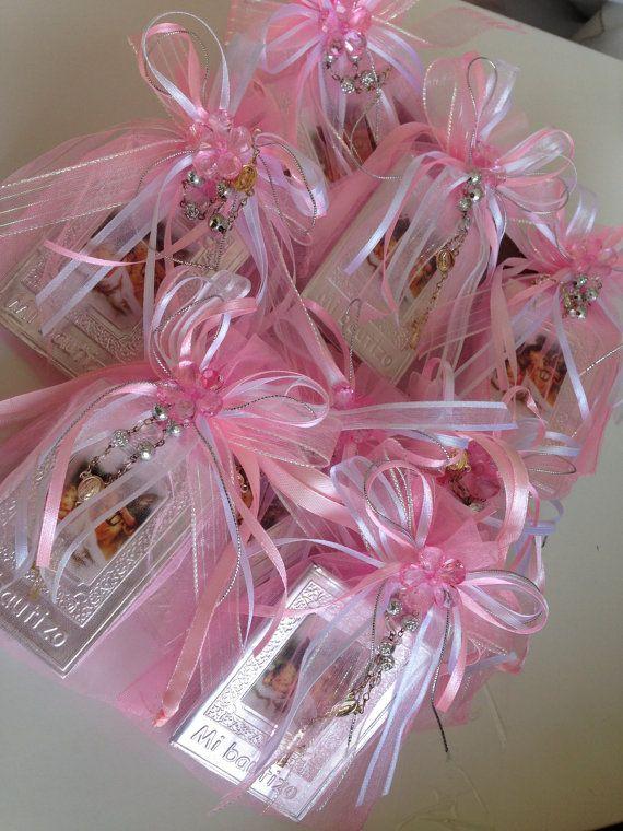 Baptism Favors pink 12 pcs / Recuerditos de by WEDDINGLASSOS, $47.00