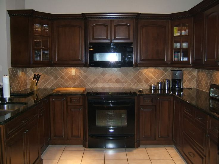 kitchen cabinets  Paint colors for kitchen with dark brown cabinets