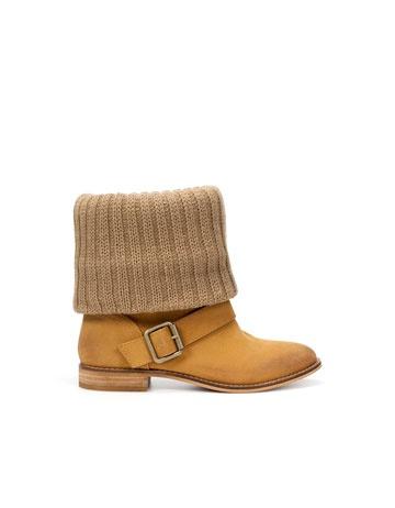 Zara - Flat Fabric Ankle Boot