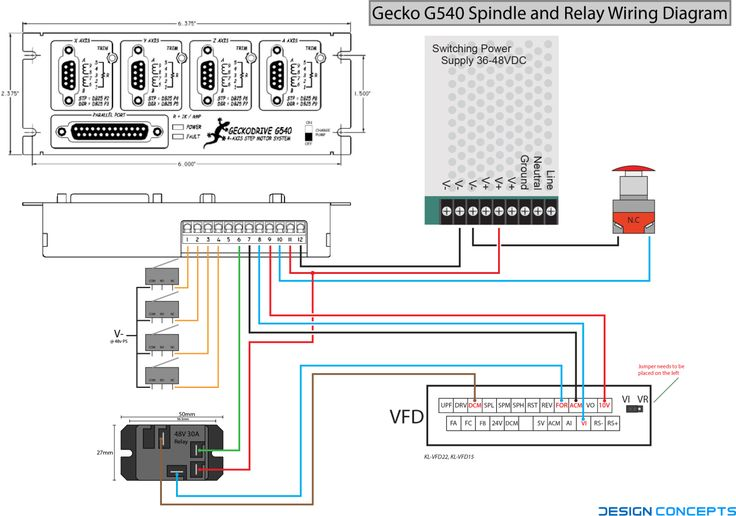 G540 Spindle And Relay Wiring Diagram