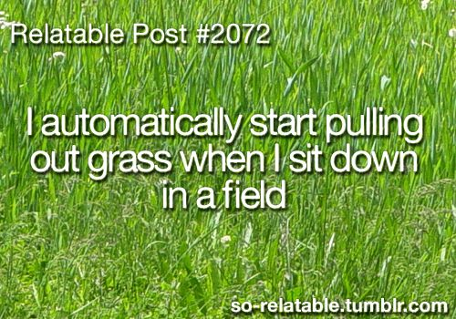 Relatable Post -- @Megan Lentz remember at soccer practice when we all put grass down each others shirts!  Haha