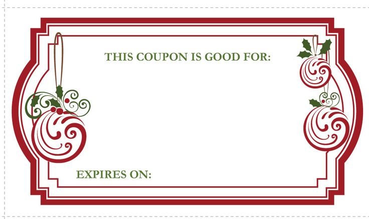 Need A Last Minute Gift Print Out These Christmas Gift Coupons For Your Family Or Friends These 3 1 2 Free Coupon Template Coupon Template Christmas Coupons