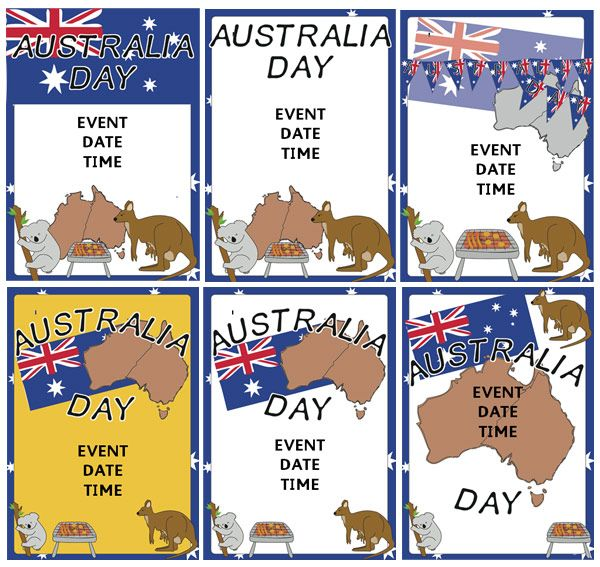 Australia Day Event Posters