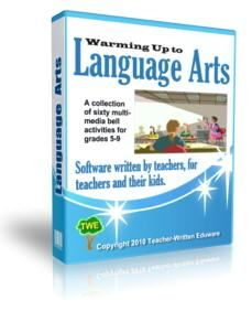 Free Teaching Software for Language Arts Middle School Kids--these are warmup activities.
