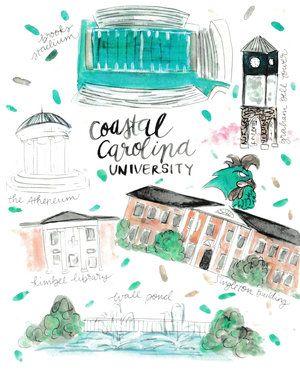 Coastal Carolina University College Map #racheltenny