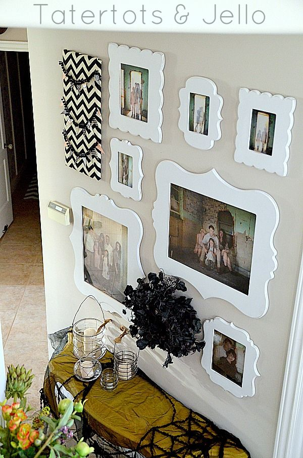 LOVE this ghostly gallery wall from Tatertots & Jello