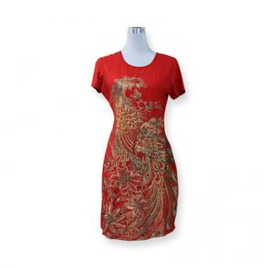 Red Embroidery Dress