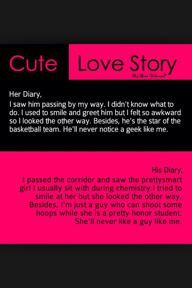 Cute love story Quotes Pinterest Love, Cute love and Cute love ...