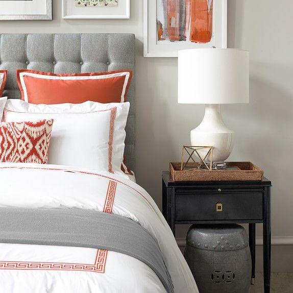 1000 ideas about grey orange bedroom on pinterest orange bedrooms burnt orange bedroom and. Black Bedroom Furniture Sets. Home Design Ideas