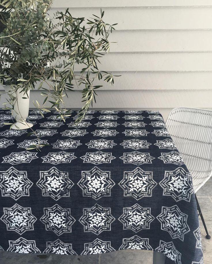 "89 Likes, 7 Comments - Aqua door Designs (@aquadoordesigns) on Instagram: ""Indigo Algarve tablecloth @aquadoordesigns #indigo #indigotablelinen #tablescape #tablelinen…"""