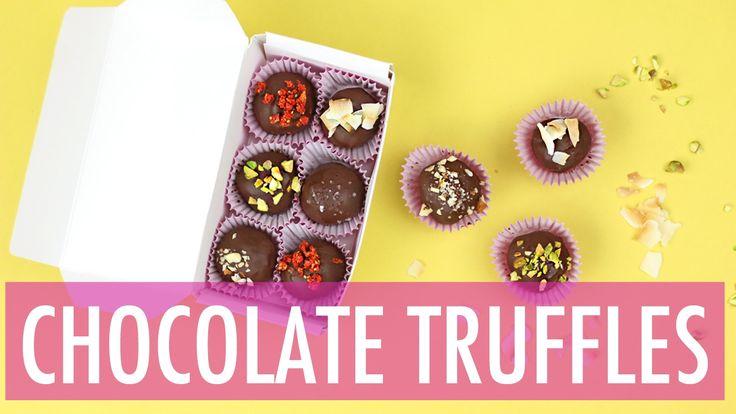 Nutella Chocolate Truffles Recipe | DIY Valentines Day Gift Ideas - YouTube