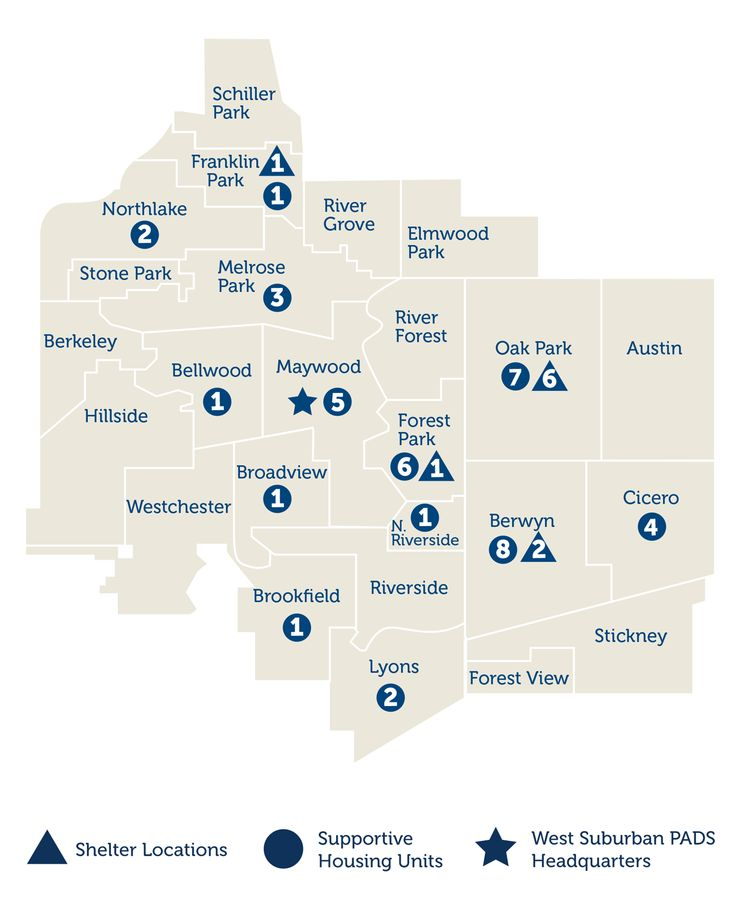 PADS - Shelter in SW Suburbs and Chicagoland