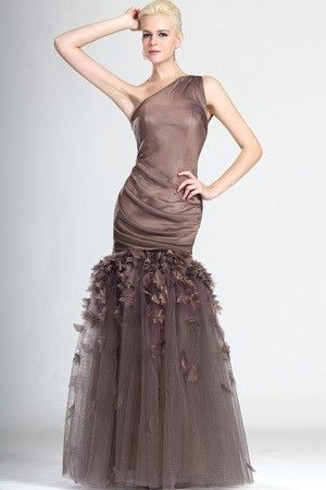 Glamorous & Dramatic Hourglass One Shoulder Mermaid Mother Of The Bride Dress