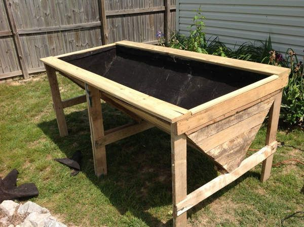 Raised garden beds on legs 152 vertical gardening for Raised box garden designs