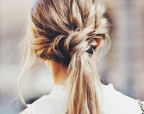 Perfectly imperfect ponytail.