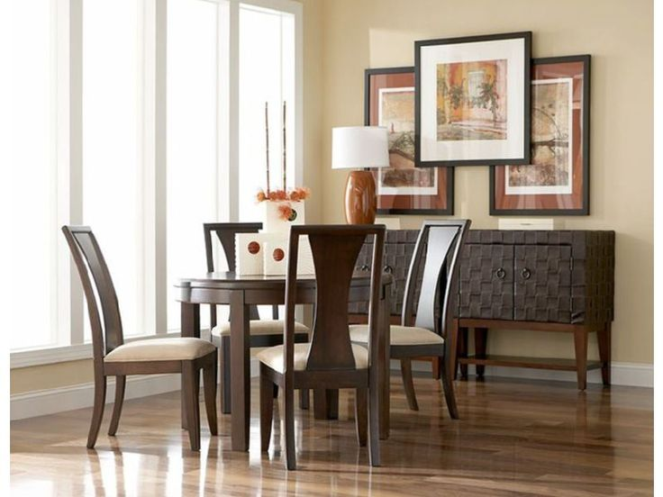 Dine In Elegance With The Contemporary Madden Round Dining Room CORT Rents Furniture And Kitchen Essentials For Your Lifestyle