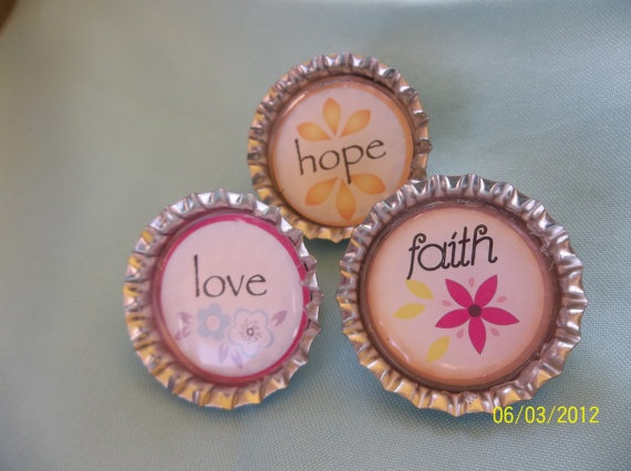 3 Bottle Cap Brooches by ang744 on Etsy, $5.00: Bottle Caps, Etsy, Ang744, Cap Brooches, 5 00