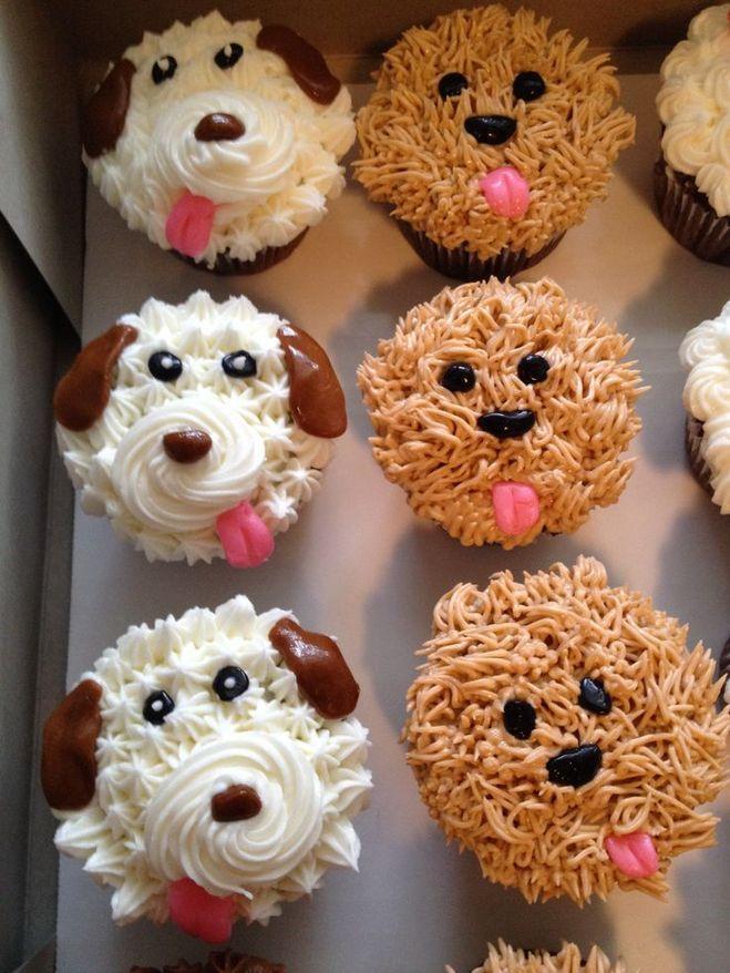 капкейки-собаки из крема