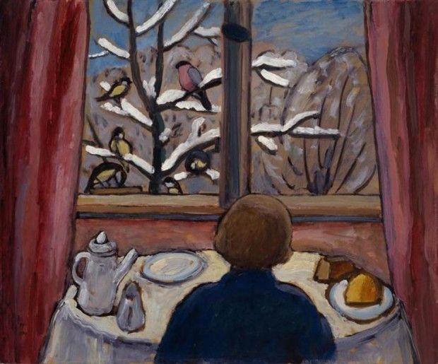 Gabriele Munter, Breakfast of the Birds, 1934, National Museum of Women in the Arts (Washington, D.C.)