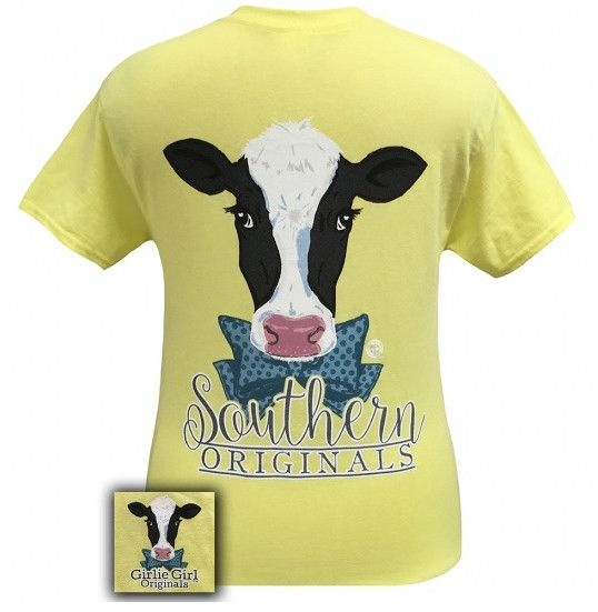 Every Southern girl will love our Southern Originals Preppy Cow! This tee is a classic fit, pre-shrunk jersey knit tee, made of 6-ounce 100% cotton. Be on the look out for more Southern Original tees