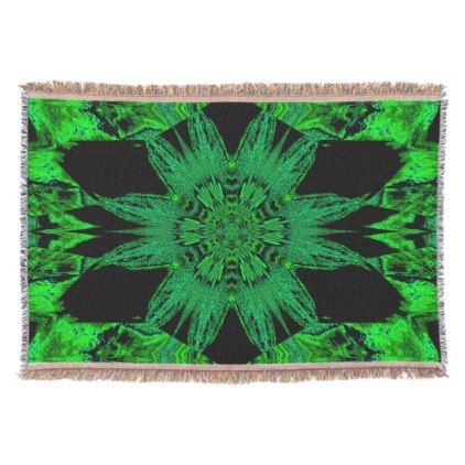 Green Velvet Flower TB SDL Throw - home gifts ideas decor special unique custom individual customized individualized