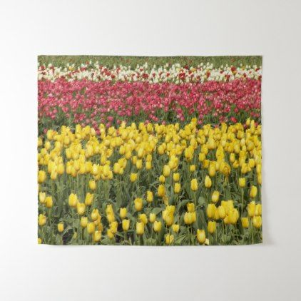 Tulip Time Floral Medium Tapestry - floral style flower flowers stylish diy personalize