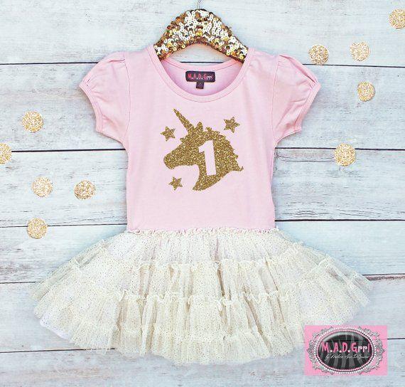 7ee527c595780 Unicorn Birthday, Unicorn Dress, Girls 1st Birthday Dress, First ...