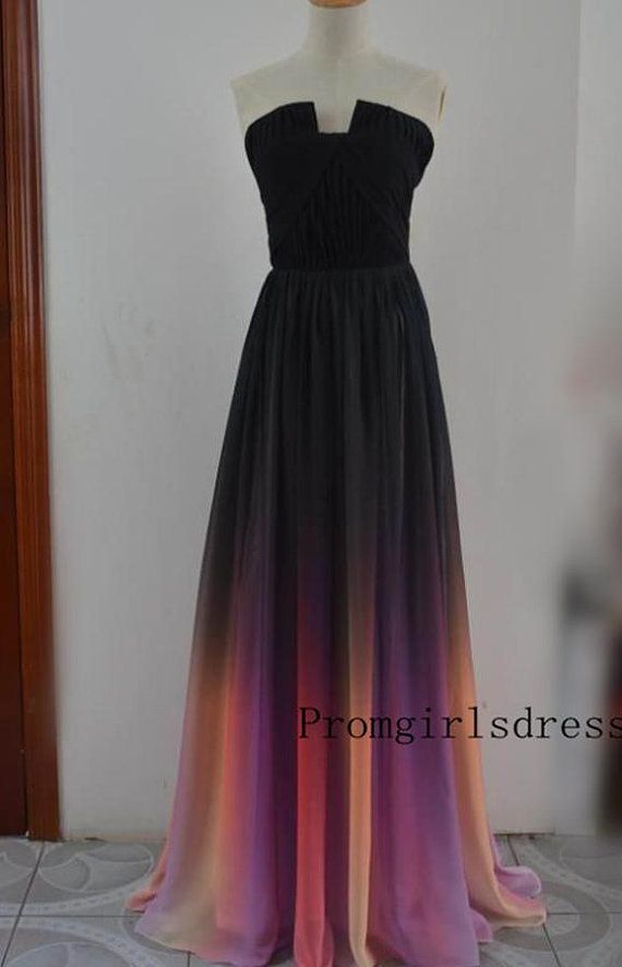 Prom dress Ombre Prom Dress Prom Dresses by Promgirlsdress on Etsy