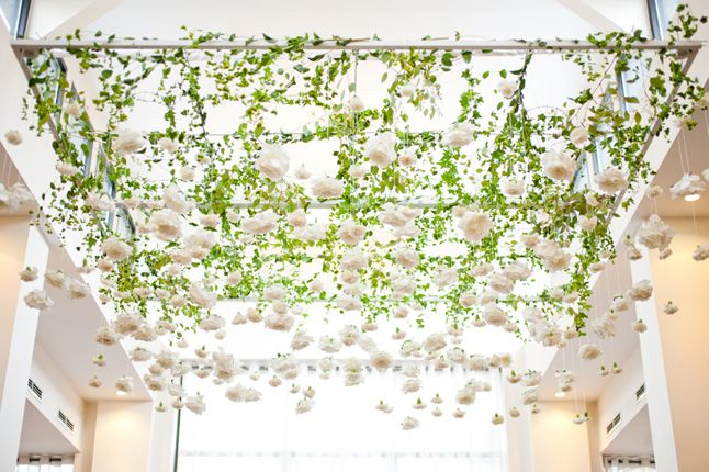 i'd love to say 'i do' under this hanging garden & vines stunner by @Anne Book from @A CITY  WEDDING