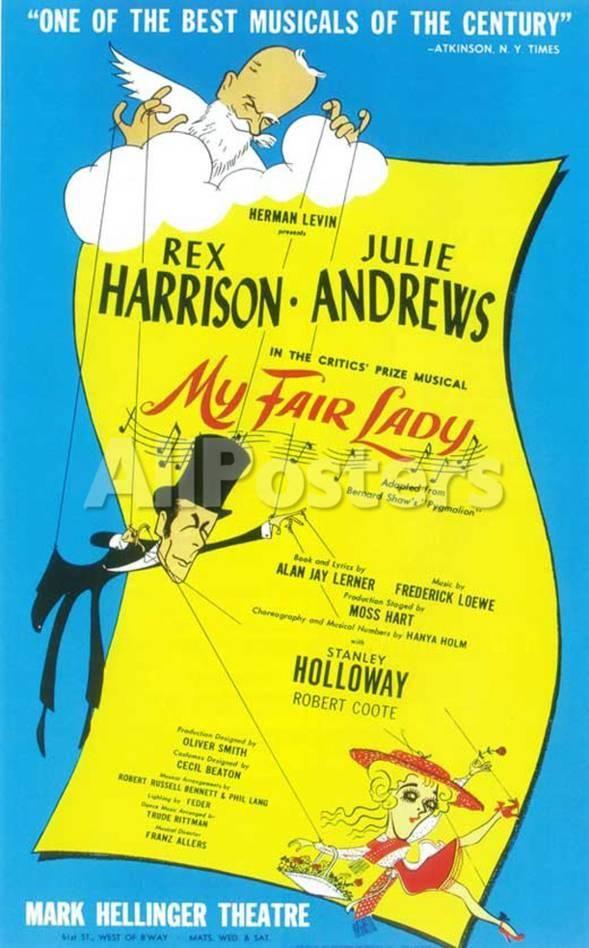 My Fair Lady Broadway Poster 1956 Masterprint Allposters Com Broadway Posters My Fair Lady My Fair Lady Musical