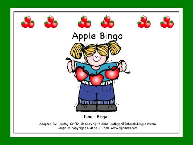 FREE Apple Bingo Books Emergent Reader