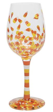 Lolita hand painted wine glass for Halloween