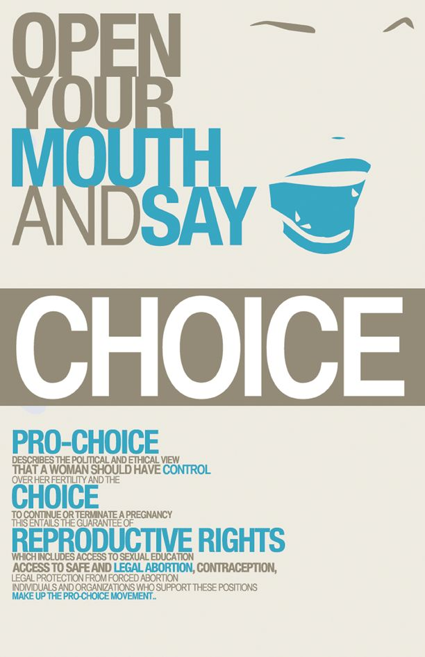 Pro-Choice Logo | Social Awareness Typography Poster: Pro ...