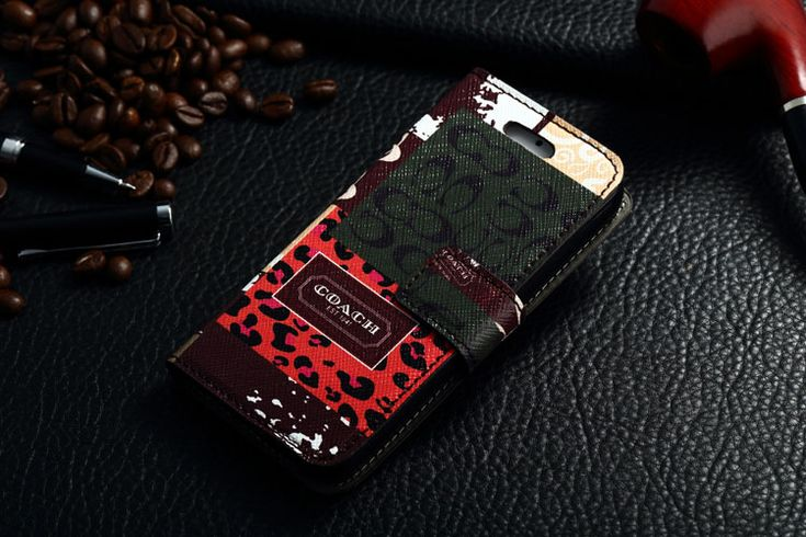 Coach iPhone 7 Book Wallet Cases Coffee