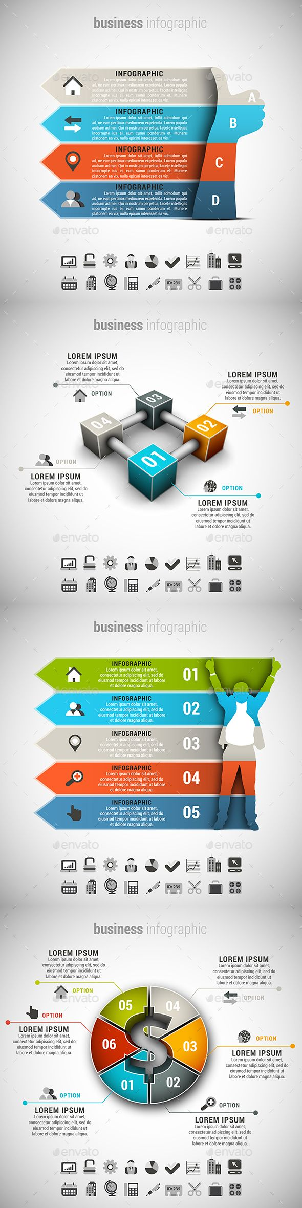 4 in 1 Business Infographics Bundle Template PSD, Vector EPS, AI. Download here: http://graphicriver.net/item/4-in-1-business-infographics-bundle/15021285?ref=ksioks