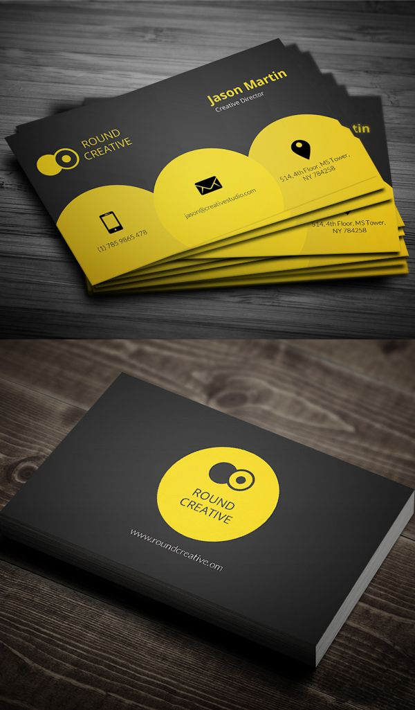 203 best business card images on pinterest business cards carte creative yellow business card reheart Gallery