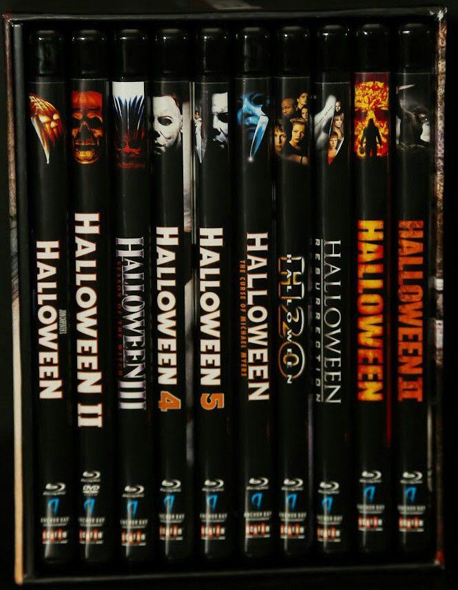 #Halloween 1 (1978), 2 (1981), 3 (1982), 4 (1988), 5 (1989), 6 (1995), 7 (1998), 8 (2002), 9 (2007) & 10 (2009)