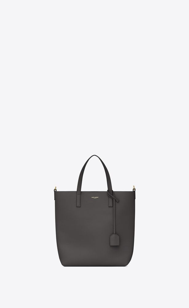 SAINT LAURENT Shopping Saint Laurent N S Woman SHOPPING Toy bag in asphalt  gray leather a V4 d00875f91fefd