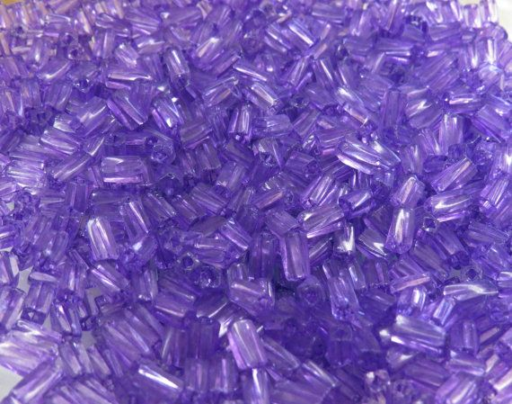 7x3.4mm Sol Gel Transparent Purple Czech Glass by beadsandbabble, $2.99